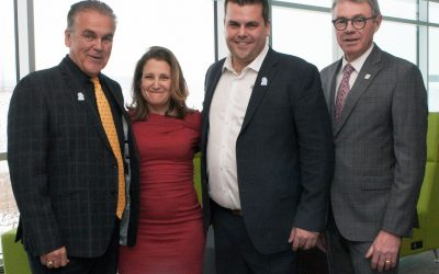 Minister Chrystia Freeland visits the Jefo Campus