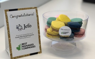 Jefo Among Canada's Best Managed Companies Gold Standard Winners