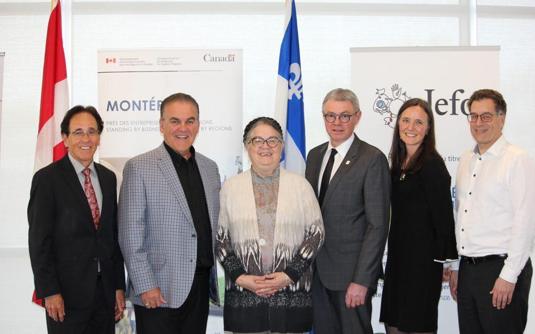 Jefo reçoit un support financier du Gouvernement du Canada